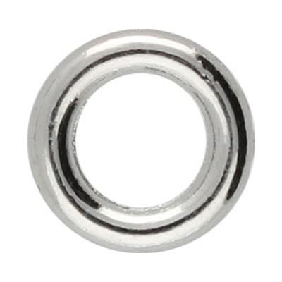 Bindering, rund geschlossen, 8mm, innen 4,5mm, Metall, silberfarben