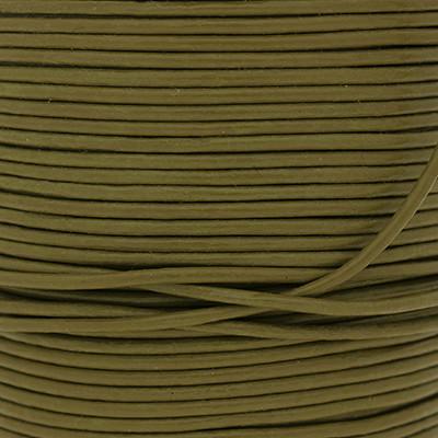Rundriemen, Lederschnur, 100cm, 1,5mm, KAKTUS