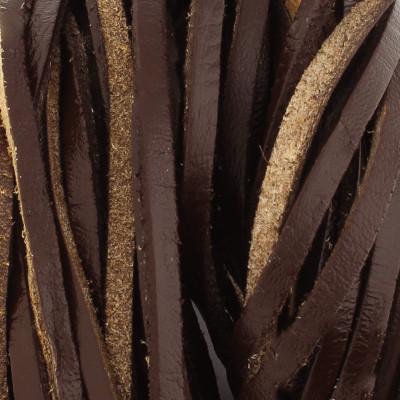 Flachriemen Rindsleder, 100cm, 3x2mm, BRAUN