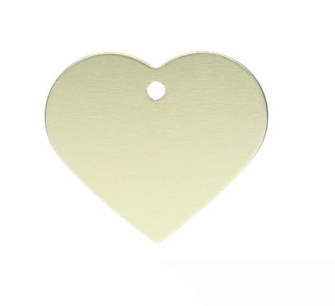 Anhänger, Herz, 32x35mm, gold, eloxiertes Aluminium