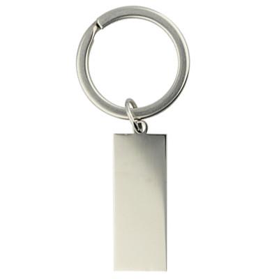 Schlüsselring, Spiralring inkl. Anhänger, rund, 1 Stück, 20x2mm, EdelstahlAnhänger 31x12x2mm