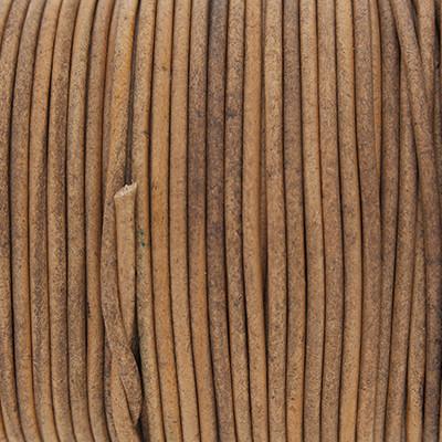 Rundriemen, Lederschnur, 100cm, 2mm, VINTAGE TAUPE