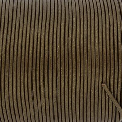 Rundriemen, Lederschnur, 100cm, 1,5mm, METALLIC BRONZEBRAUN