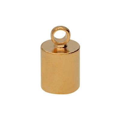 Endkappe mit Öse (2 Stück), 10x6mm, Loch-Ø 5,0mm, Metall, roségoldfarben