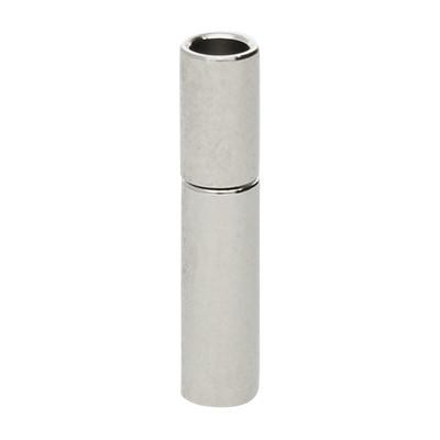 Steckverschluss, 2mm, 14x3mm, Metall, silberfarben