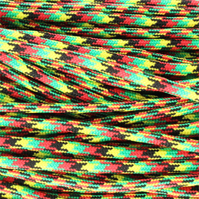 Segeltau, Reepschnur oval, 100cm, 4mm, JAMAIKA (schwarz-rot-gelb-grün)