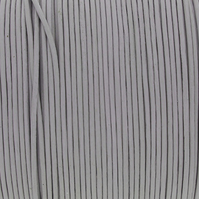 Rundriemen, Lederschnur, 100cm, 1mm, HELLGRAU