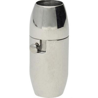 Magnetverschluss, 5mm, 19x8mm, Edelstahl, silberfarben