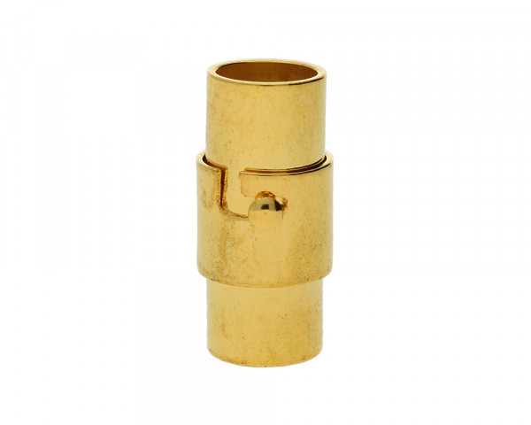 Magnetverschluss, 5mm, 16x7mm, Metall, goldfarben