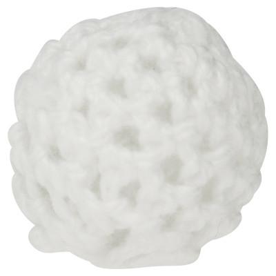 Perle, innen 2mm, Ø 21mm, weiß, Wolle umstrikt