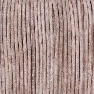 Rundriemen, Lederschnur, 100cm, 2mm, HELLTAUPE meliert