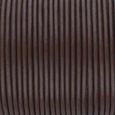 Rundriemen, Lederschnur, 100cm, 2mm, BRAUN