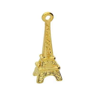 Anhänger, Eiffelturm,24x8mm, goldfarben, Metall