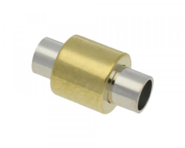 Magnetverschluss, 5mm, 19x10mm, Metall, gold- und silberfarben