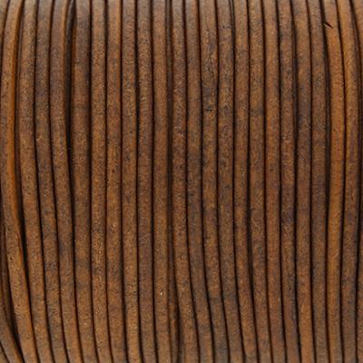 Rundriemen, Lederschnur, 100cm, 3mm, VINTAGE TAUPE dunkel