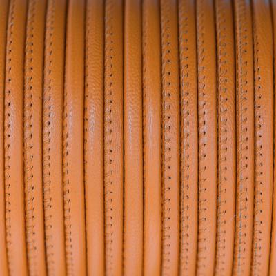Premium Nappaleder rund gesäumt, 100cm, 4mm, ORANGE