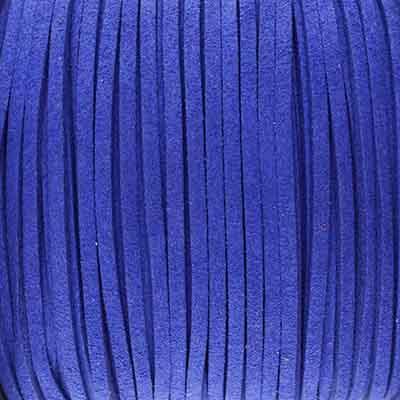 Textilband in Wildlederoptik (100cm), 2,5mm breit - KOBALTBLAU