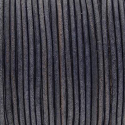 Rundriemen, Lederschnur, 100cm, 1,5mm, JEANSBLAU