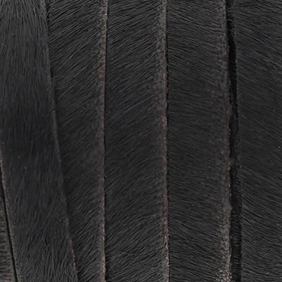 flaches Lederband aus Kuhfell 10x2mm - SCHWARZ, glatte Rückseite aus Nappaleder
