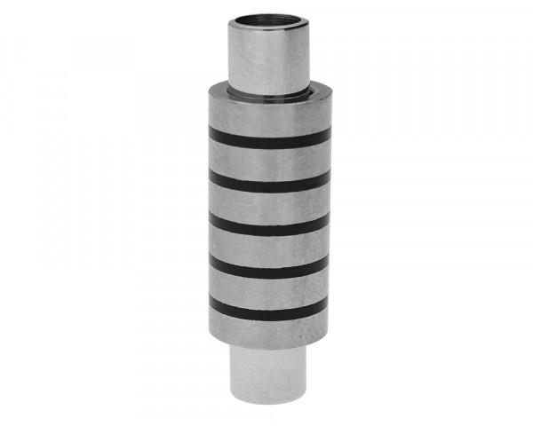 Magnetverschluss, 5mm, 30x9mm, Edelstahl, silberfarben