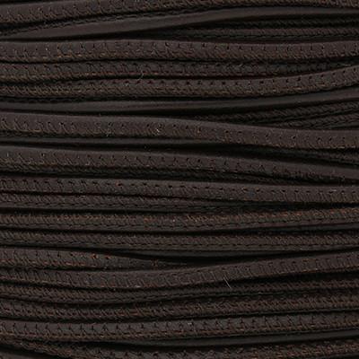 Premium Nappaleder rund gesäumt, 100cm, 2,5mm, BRAUN