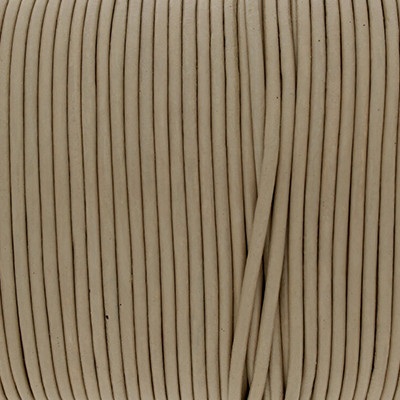 Rundriemen, Lederschnur, 100cm, 2mm, NATUR