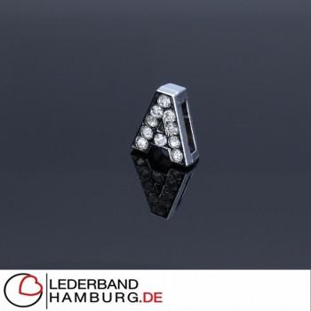 Slidercharm, Buchstabe A, 12x13x4, innen 8x2mm, silberfarben, Metall