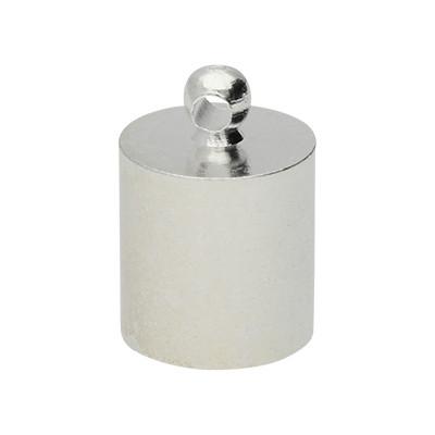 Endkappe mit Öse, 12x10mm, Loch-Ø 8,0mm, Metall, versilbert