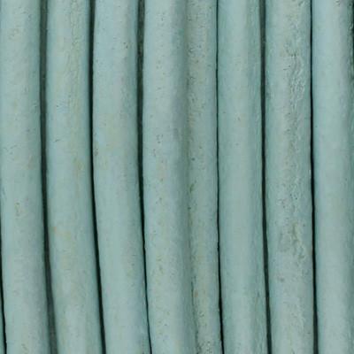 Rundriemen, Lederschnur, 100cm, 3mm, HELLBLAU