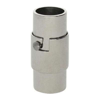 Magnetverschluss, 6mm, 18X8mm, Edelstahl, Platinfarben