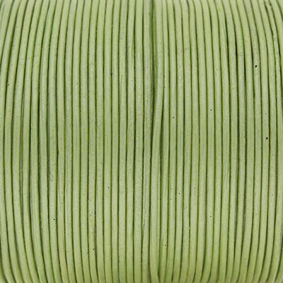 Rundriemen, Lederschnur, 100cm, 1mm, METALLIC HERBAL GARDEN