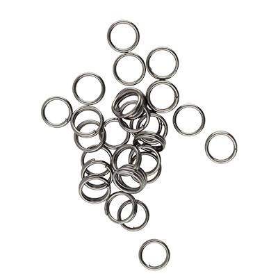 Spiralring, rund, 10 Stück, 5mm, innen 4mm, Metall, schwarz