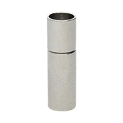 Steckverschluss, 18x6mm, innen 5mm, Metall, silberfarben