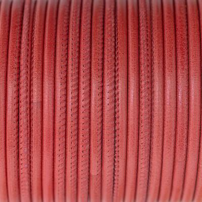 Nappaleder rund gesäumt, 100cm, 2,5mm, ROT