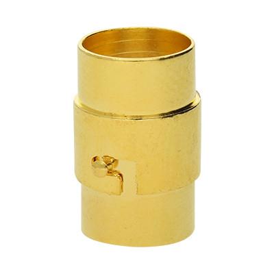 Magnetverschluss, 10mm, 19x12mm, Metall, goldfarben