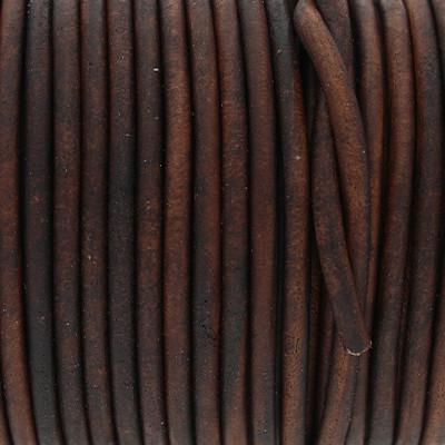 Rundriemen, Lederschnur, 100cm, 3mm, VINTAGE CHOCOLATE TORTE