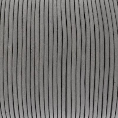 Rundriemen, Lederschnur, 100cm, 2mm, HELLGRAU