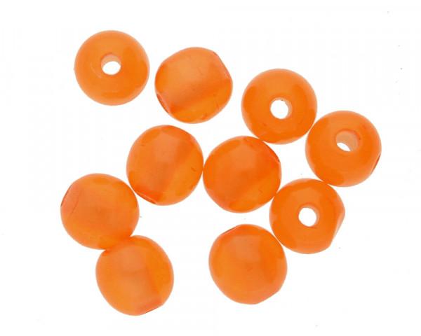 Glasperlen in Cat Eye Optik (10Stk.), Ø 6mm, Loch 1,2mm, orange