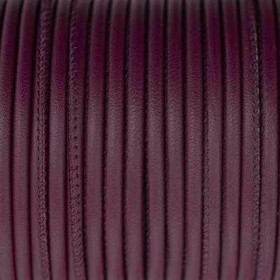 Premium Nappaleder rund gesäumt, 100cm, 2,5mm, BORDEAUX-VIOLETT