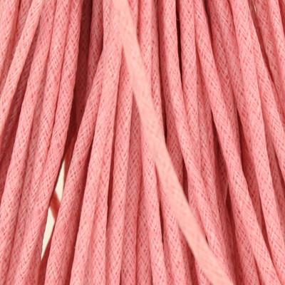 Gewachstes Schmuckband aus Baumwolle, 100cm, 2mm breit, rosa