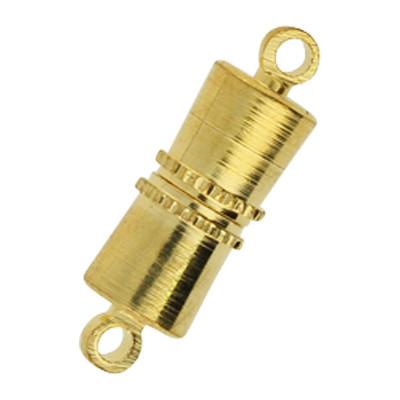 Magnetverschluss, Öse 1mm, 16x5mm, Metall, goldfarben / VE5