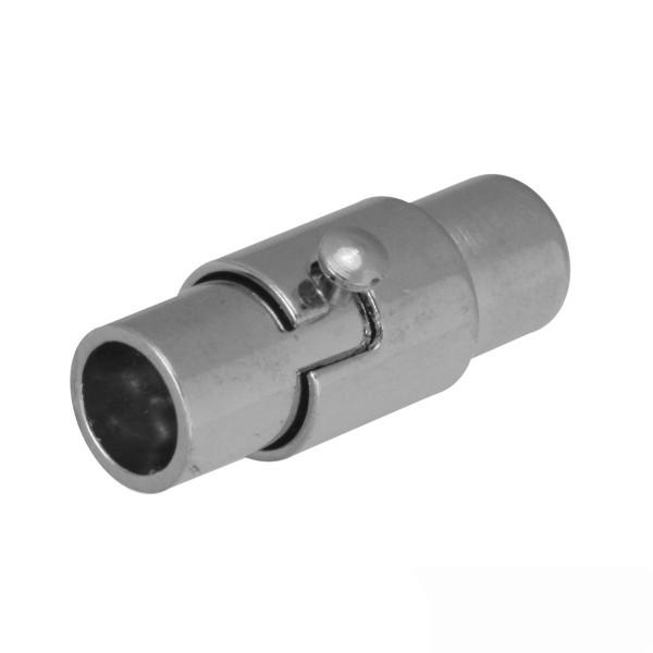 Magnetverschluss, 3mm, 15x4mm, Metall, platinfarben