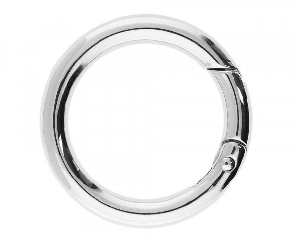 Ringverschluss, rund, 1 Stück, 45x6mm, Metall, silberfarben