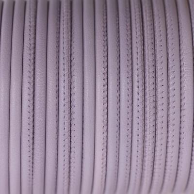 Nappaleder rund gesäumt, 100cm, 4mm, FLIEDER