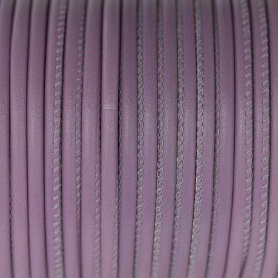 Premium Nappaleder rund gesäumt, 100cm, 4mm, PASTEL-LILA