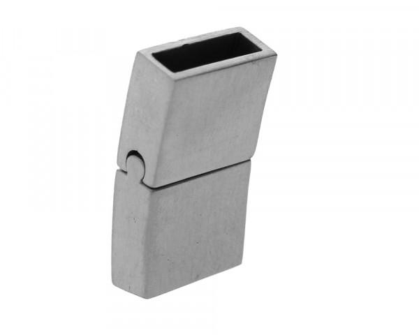Magnetverschluss, 23x12x5mm, 10x3mm, Edelstahl matt