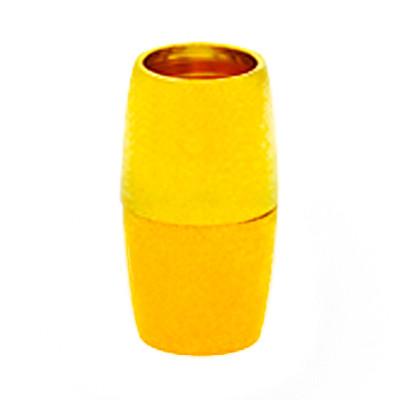 Magnetverschluss, 6mm, 16x9mm, Metall, goldfarben
