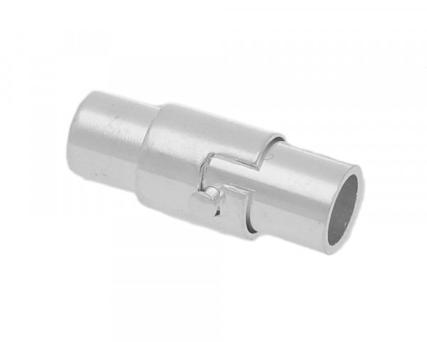 Magnetverschluss, 4mm, 15x6mm, Metall, silberfarben