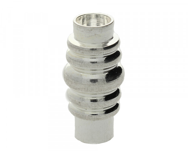 Magnetverschluss, 6mm, 19x10mm, Metall, silberfarben