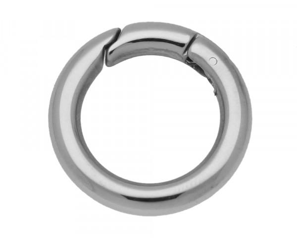 Ringverschluss, rund, 1 Stück, 24x4mm, Edelstahl, silberfarben